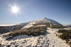 Βουνό Snezka, γιγαντιαία βουνά, Δημοκρατία της Τσεχίας Στοκ εικόνα με δικαίωμα ελεύθερης χρήσης