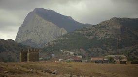 Βουνό Sokol από το φρούριο Genoese απόθεμα βίντεο
