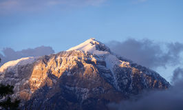 Βουνό Tahtali στην Τουρκία, Antalya Kemer Στοκ εικόνα με δικαίωμα ελεύθερης χρήσης