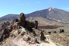 Βουνό Teide, Tenerife, roques de Garcia στοκ εικόνα