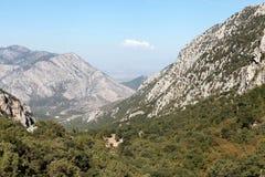 Βουνό Toros από Termessos, Antalya. Στοκ Εικόνες