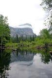 Βουνό Watkins και λίμνη καθρεφτών, εθνικό πάρκο Yosemite Στοκ Εικόνες