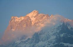 βουνό wetterhorn Στοκ Εικόνα