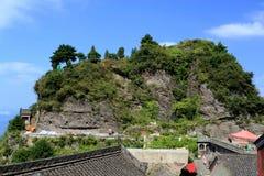 Βουνό Wudang, διάσημοι ταοϊστικοί Άγιοι Τόποι στην Κίνα Στοκ εικόνες με δικαίωμα ελεύθερης χρήσης