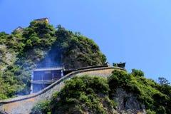 Βουνό Wudang, διάσημοι ταοϊστικοί Άγιοι Τόποι στην Κίνα Στοκ Φωτογραφίες