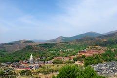 Βουνό Wutai Στοκ εικόνες με δικαίωμα ελεύθερης χρήσης