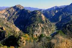βουνό yunmeng στοκ φωτογραφία