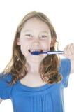 βουρτσίζοντας δόντια κο& Στοκ Εικόνες