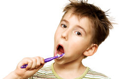 βουρτσίζοντας δόντια παι Στοκ εικόνες με δικαίωμα ελεύθερης χρήσης