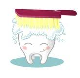 βουρτσίζοντας δόντι ελεύθερη απεικόνιση δικαιώματος