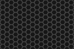 Βουρτσισμένα hexagon κάγκελα μετάλλων Στοκ Εικόνα