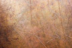 Βουρτσισμένη επιφάνεια του ορείχαλκου, παλαιό πιάτο της σύστασης χαλκού στοκ εικόνες με δικαίωμα ελεύθερης χρήσης