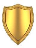 βουρτσισμένη χρυσή ασπίδα Στοκ εικόνα με δικαίωμα ελεύθερης χρήσης