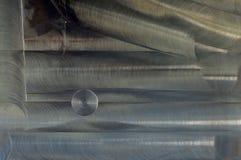 Βουρτσισμένο αφηρημένο υπόβαθρο σύστασης μετάλλων στοκ εικόνες