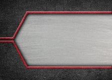 Βουρτσισμένο μέταλλο στο κατασκευασμένο μεταλλικό υπόβαθρο Περίληψη, τρισδιάστατος, άρρωστη Στοκ Εικόνα