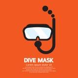 Βουτήξτε μάσκα διανυσματική απεικόνιση