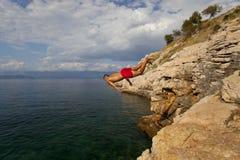 Βουτήξτε στη θάλασσα Στοκ φωτογραφία με δικαίωμα ελεύθερης χρήσης