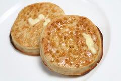 βουτυρωμένες τηγανίτες Στοκ Φωτογραφίες