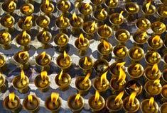 Βουτύρου λαμπτήρες Flickring Στοκ Φωτογραφία