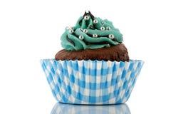 βουτύρου κρέμα σοκολάτας cupcake Στοκ Εικόνες