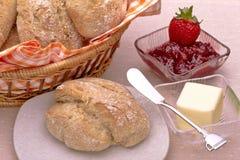 βουτύρου μαρμελάδα ψωμι& Στοκ Εικόνα