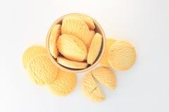 βουτύρου μπισκότα με το φλυτζάνι Στοκ φωτογραφία με δικαίωμα ελεύθερης χρήσης
