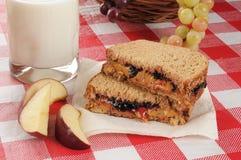 βουτύρου σάντουιτς φυστικιών Στοκ Εικόνα