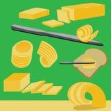 Βουτύρου συστατικό και γαλακτοκομικό προϊόν τροφίμων Στοκ Εικόνες