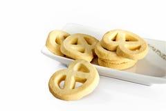 Βουτύρου τρίγωνο μπισκότων στοκ εικόνα