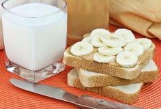 βουτύρου φυστίκι μπανανών στοκ εικόνα με δικαίωμα ελεύθερης χρήσης