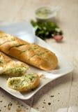 βουτύρου χορτάρι baguettes στοκ φωτογραφία με δικαίωμα ελεύθερης χρήσης