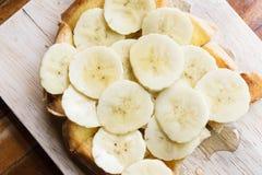 Βουτύρου ψωμί μπανανών, μπανάνα φρυγανιάς μελιού Στοκ Εικόνα