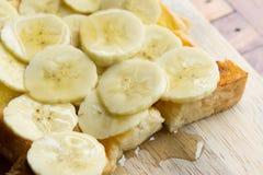 Βουτύρου ψωμί μπανανών, μπανάνα φρυγανιάς μελιού Στοκ Εικόνες