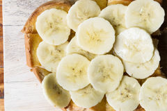 Βουτύρου ψωμί μπανανών, μπανάνα φρυγανιάς μελιού Στοκ Φωτογραφίες