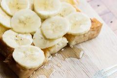 Βουτύρου ψωμί μπανανών, μπανάνα φρυγανιάς μελιού Στοκ εικόνες με δικαίωμα ελεύθερης χρήσης