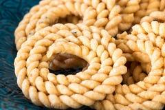 Βουτύρου Chakli με το πικάντικο διάσημο νότιο ινδικό παραδοσιακό πρόχειρο φαγητό ο Στοκ εικόνα με δικαίωμα ελεύθερης χρήσης