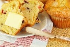 βουτύρου muffin των βακκίνιων Στοκ Εικόνες