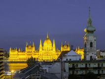 Βουδαπέστη που χτίζει τ&omicron Στοκ Φωτογραφίες