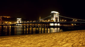 Βουδαπέστη στη νύχτα Στοκ φωτογραφία με δικαίωμα ελεύθερης χρήσης