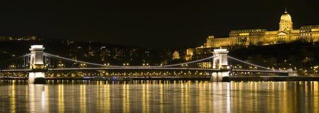 Βουδαπέστη τή νύχτα Στοκ Φωτογραφία