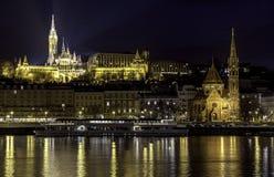 Βουδαπέστη τή νύχτα Στοκ Εικόνες
