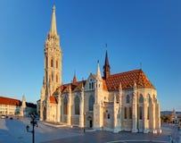 Βουδαπέστη - Mathias Church στην ημέρα στοκ εικόνα με δικαίωμα ελεύθερης χρήσης