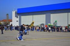 Βουλγαρικές ανοιχτές πόρτες Πολεμικής Αεροπορίας Στοκ Εικόνες