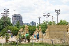 Βουλγαρική έκθεση των αριθμών άμμου στο πάρκο παραλιών Burgas Στοκ φωτογραφία με δικαίωμα ελεύθερης χρήσης