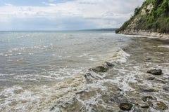 Βουλγαρική ακτή Μαύρης Θάλασσας Στοκ φωτογραφία με δικαίωμα ελεύθερης χρήσης