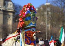 Βουλγαρική μάσκα kuker Στοκ Φωτογραφία