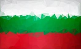Βουλγαρικός χαμηλός πολυ σημαιών Άσπρη πράσινη κόκκινη σημαία Στοκ Φωτογραφία