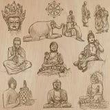 Βουδισμός - ελεύθερη σκιαγράφηση, διανυσματικό πακέτο ελεύθερη απεικόνιση δικαιώματος