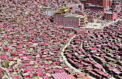 Βουδισμός ιδρύματος της Σέντα του πανοραμικού viewï ¼  αρχιτεκτονικής Στοκ εικόνες με δικαίωμα ελεύθερης χρήσης