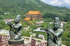 Βουδιστικά αγάλματα στο νησί Latau, Χονγκ Κονγκ Στοκ Εικόνες